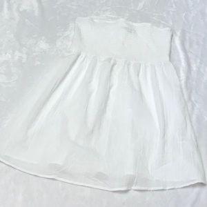 Strapless White Swim Cover. Sz. XL